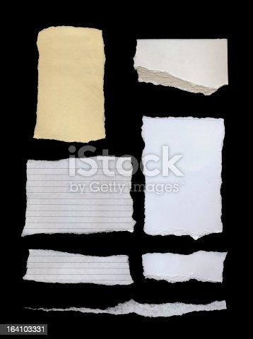 170011440 istock photo Scrap Papers 164103331