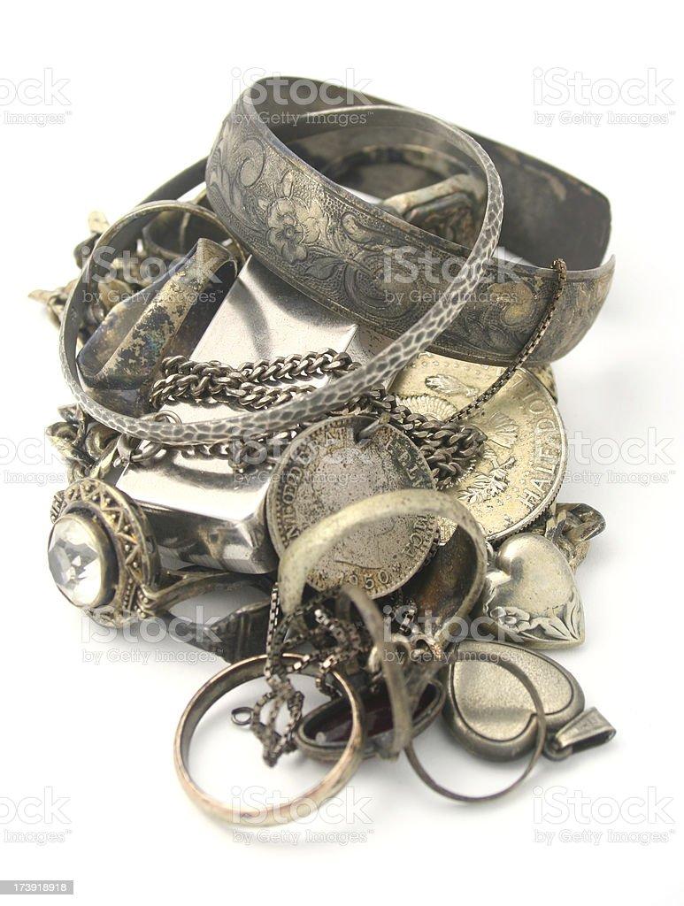Scrap Silver royalty-free stock photo