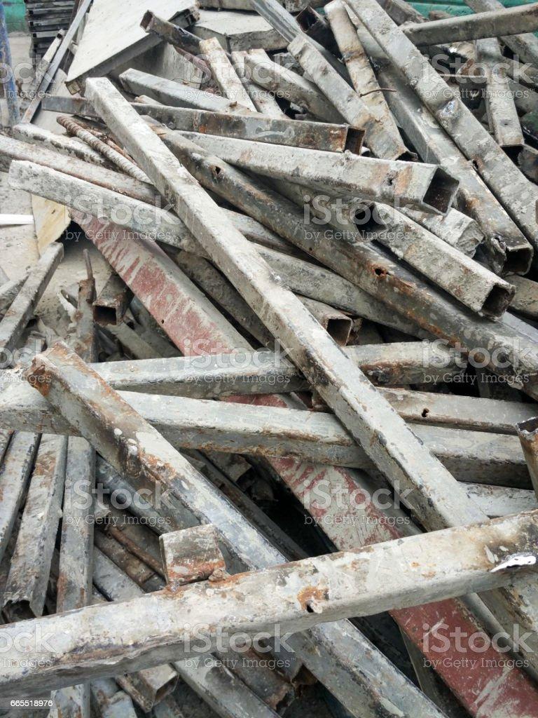Scrap steel stock photo