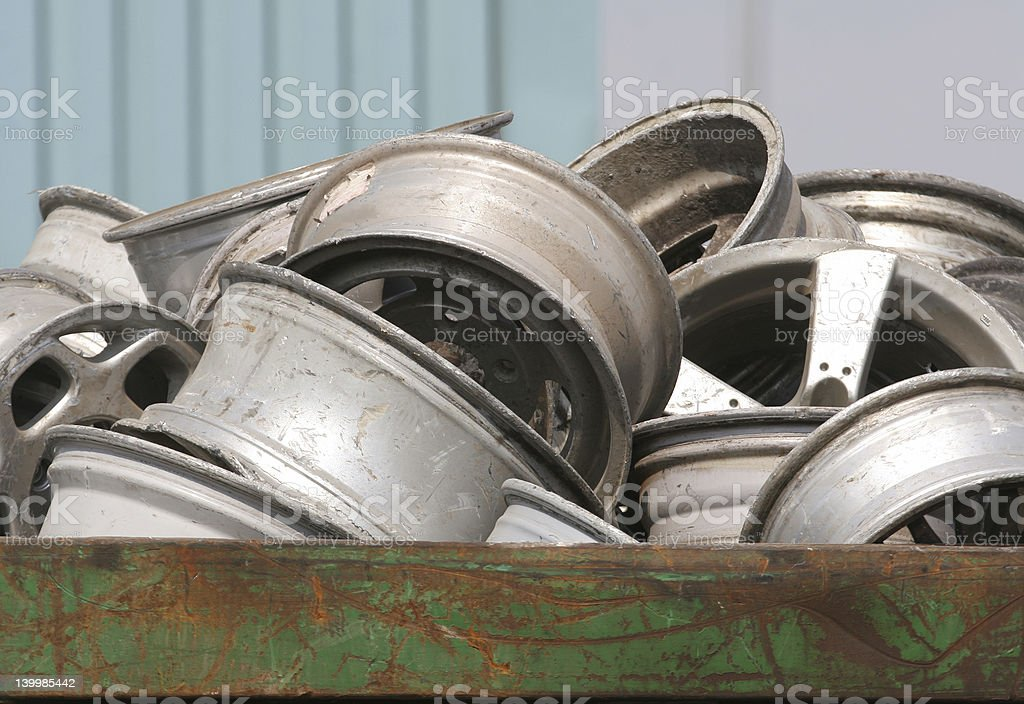 Scrap Wheels royalty-free stock photo