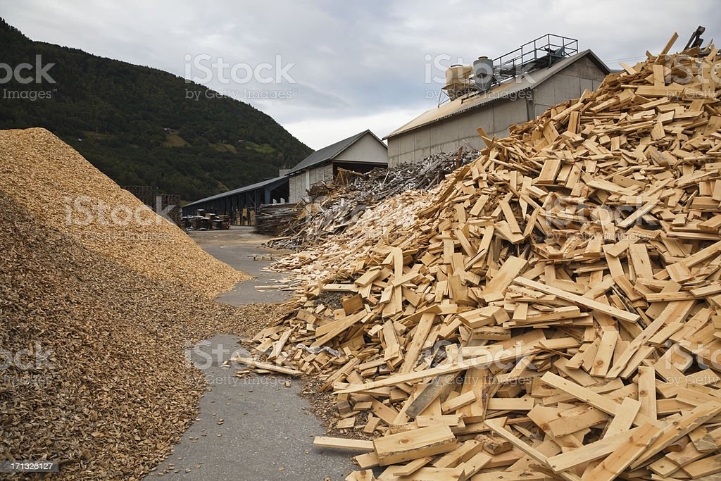 Scrap wood for recycling royalty-free stock photo