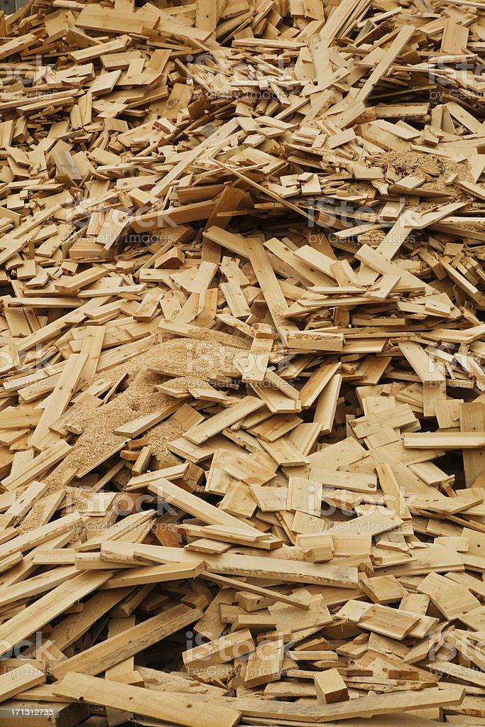 Scrap wood. royalty-free stock photo