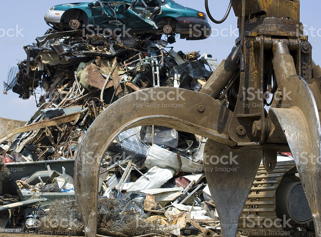 scrap yard claw royalty-free stock photo