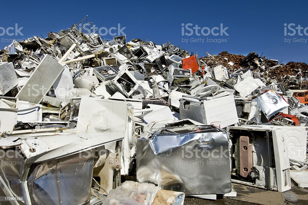 Scrap Yard Recycling Center royalty-free stock photo