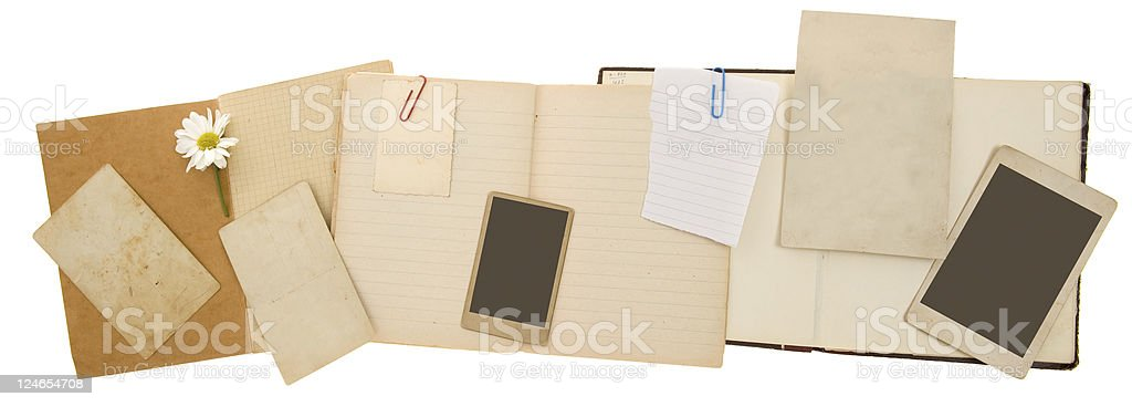 Scrapbook Banner stock photo