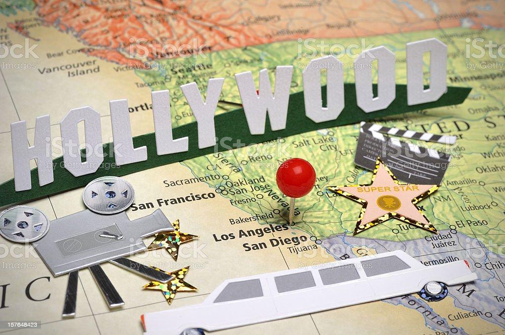 Scrapbooking around Los Angeles stock photo