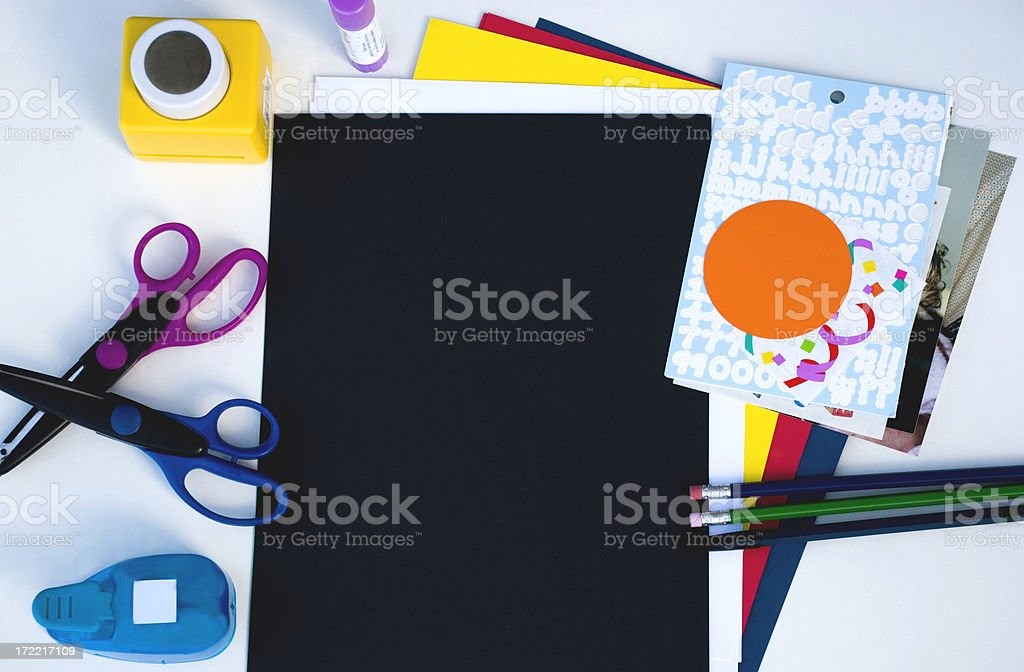 Scrapbooking black stock photo