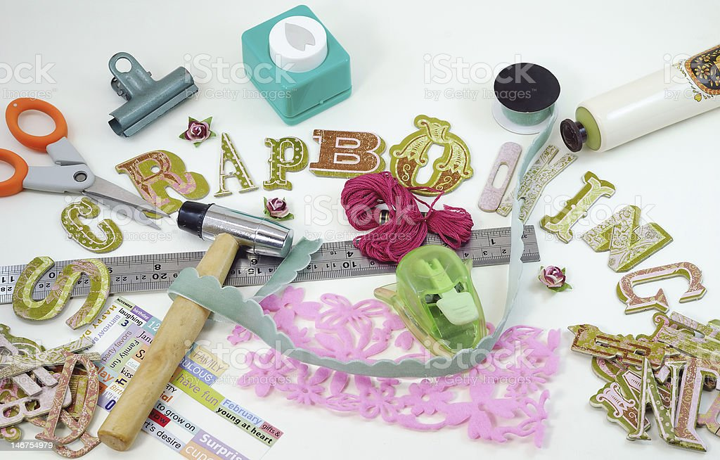 Scrapbooking concept page stock photo