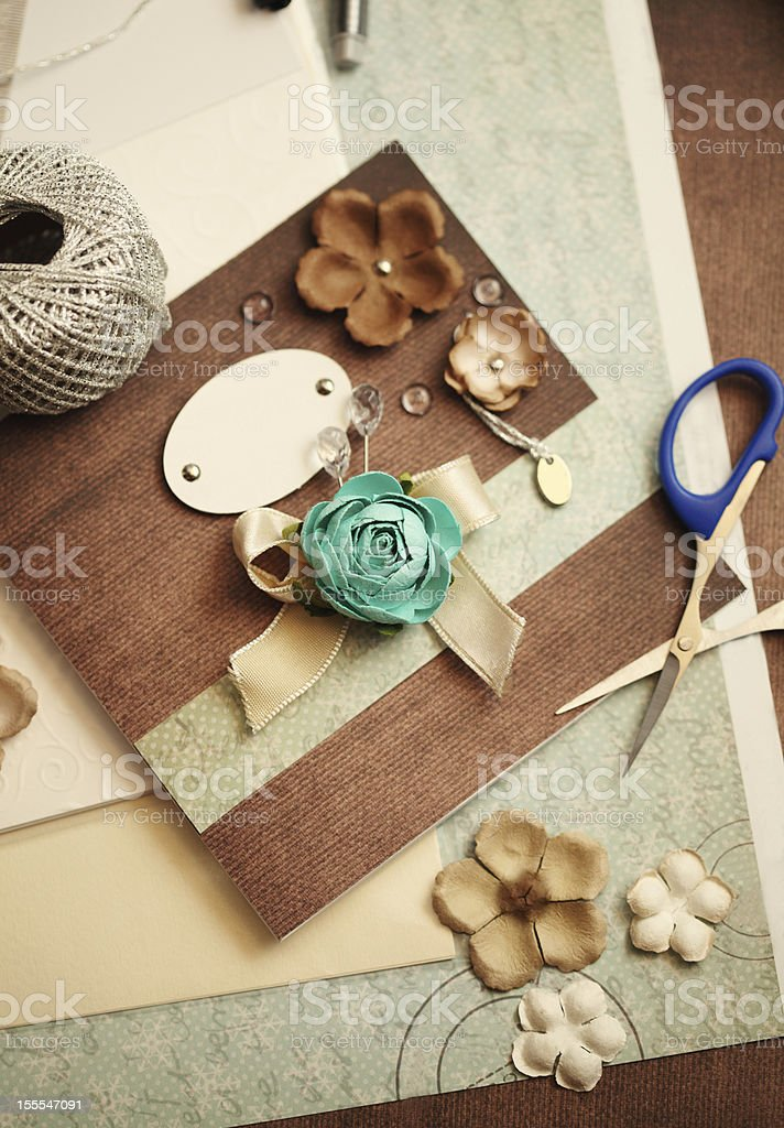 scrapbooking elements stock photo