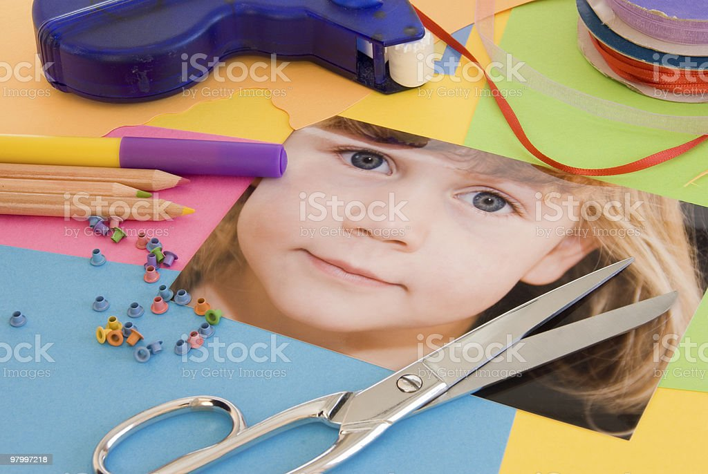 Scrapbooking royalty-free stock photo