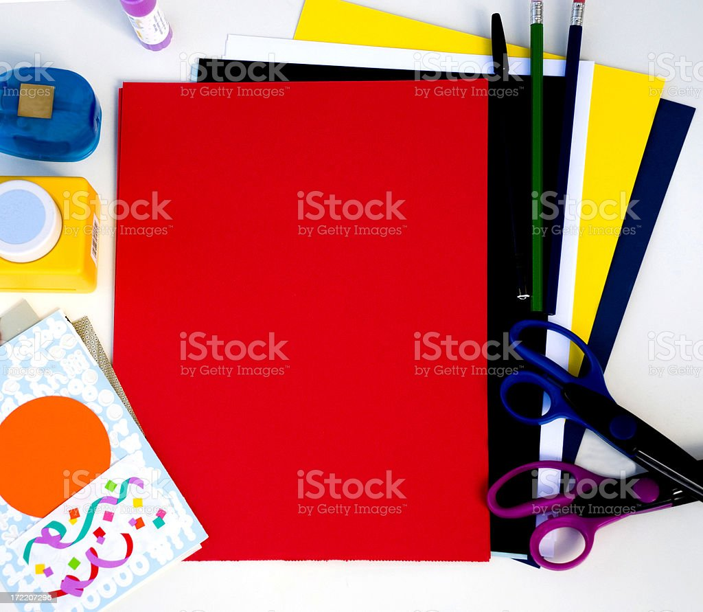 Scrapbooking red royalty-free stock photo