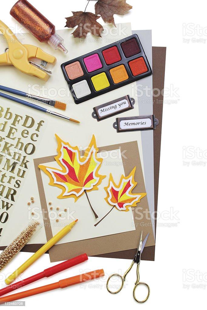 Scrapbooking supplies royalty-free stock photo