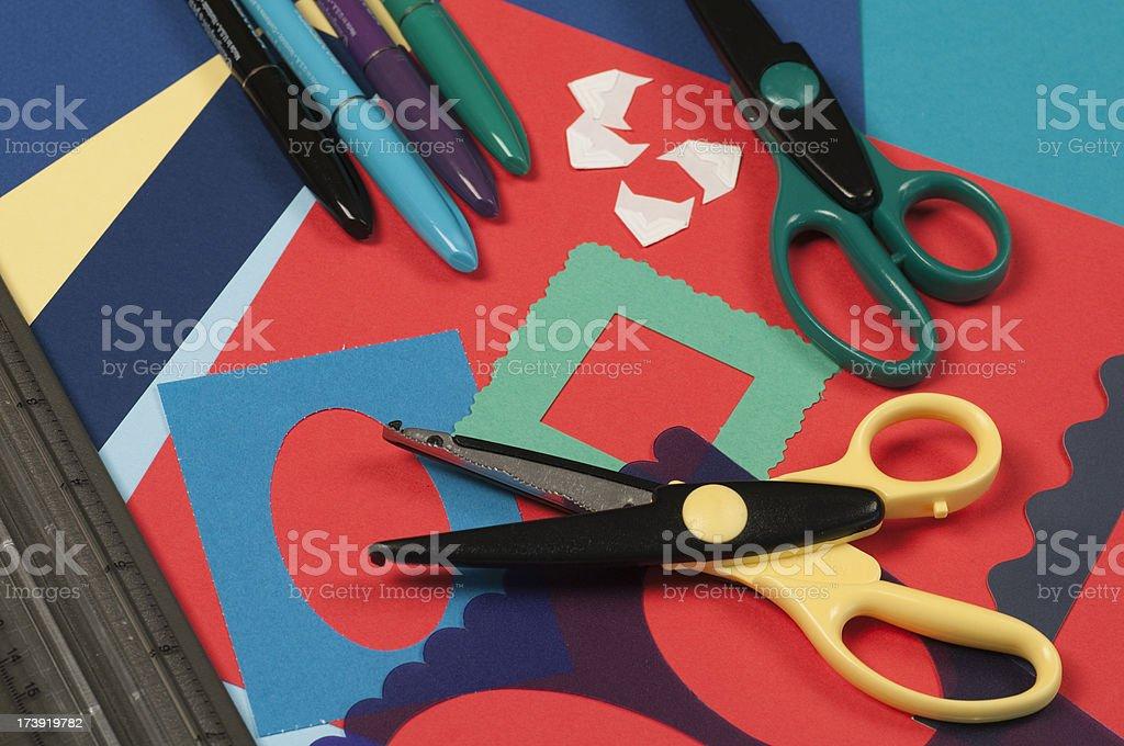 Scrapbooking Tools royalty-free stock photo