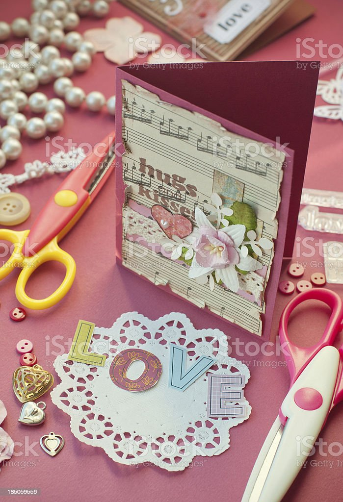 Scrapbooking with love royalty-free stock photo