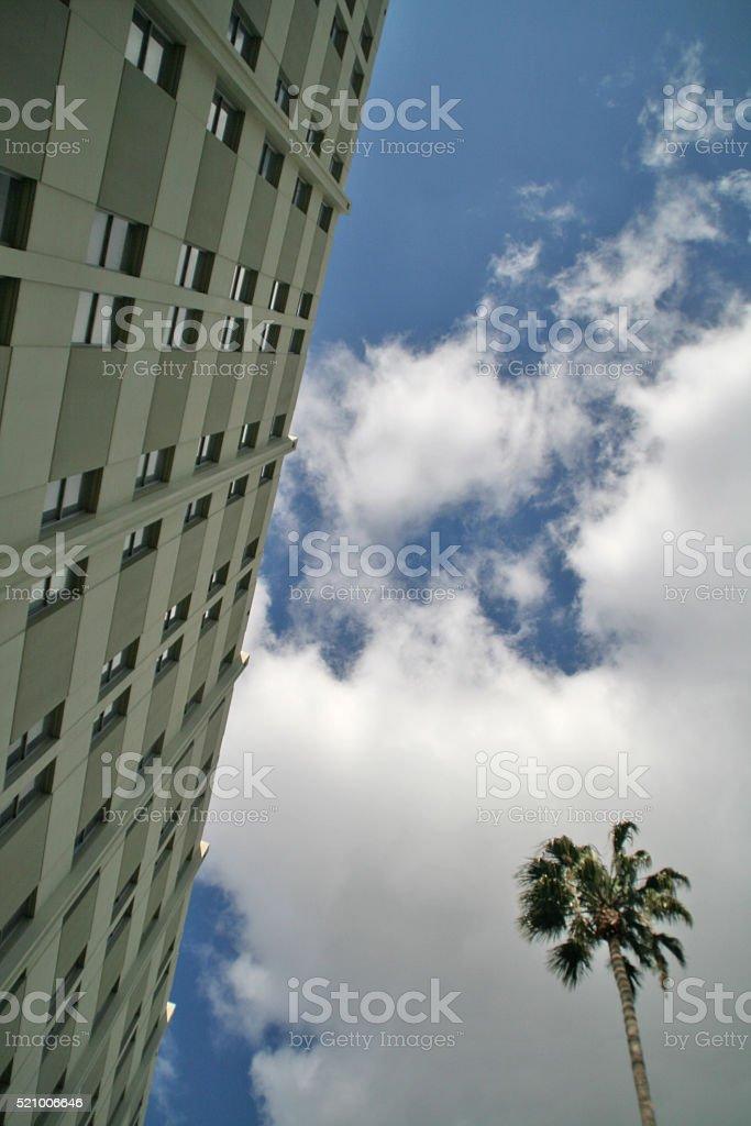 Scrape the Sky stock photo