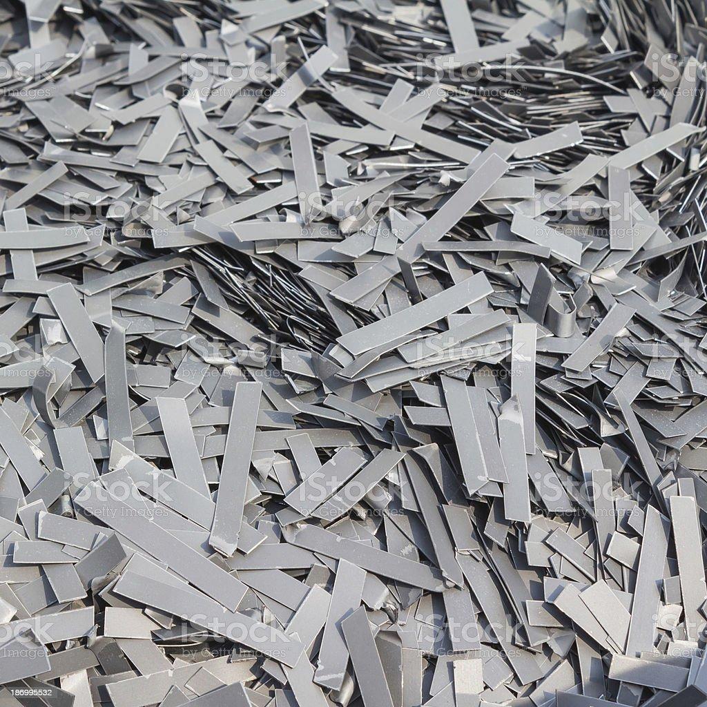 Scrapheap of silicon steel royalty-free stock photo