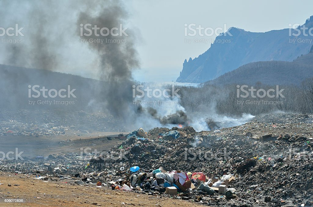 Scrap-heap stock photo