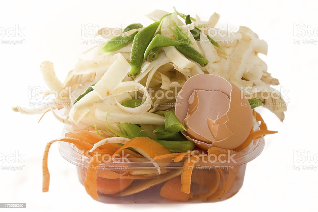 Scraps for composting royalty-free stock photo