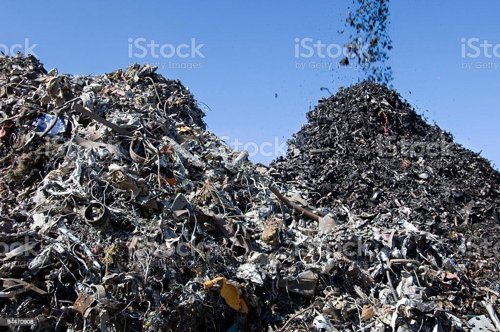 Scrapyard Metal Recycling royalty-free stock photo