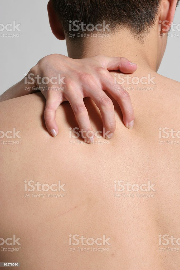 Scratch my back royalty-free stock photo
