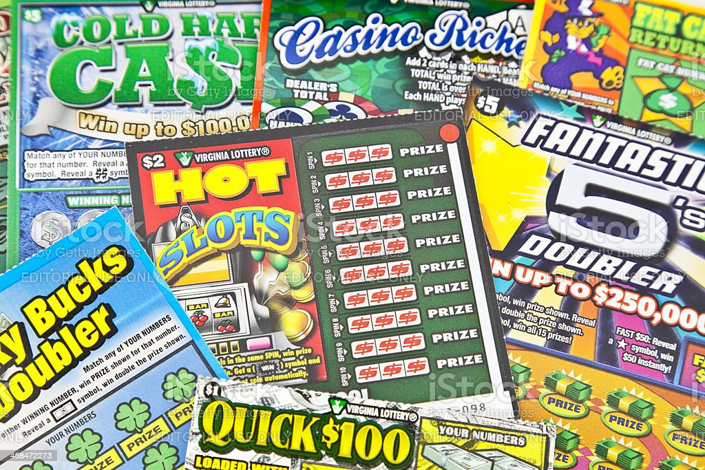 Scratch Off Lottery Tickets stock photo