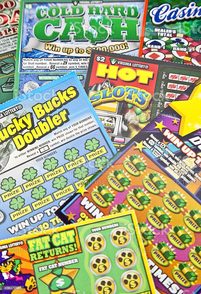 Scratch Off Lottery Tickets Stock Photo - Download Image Now - iStock
