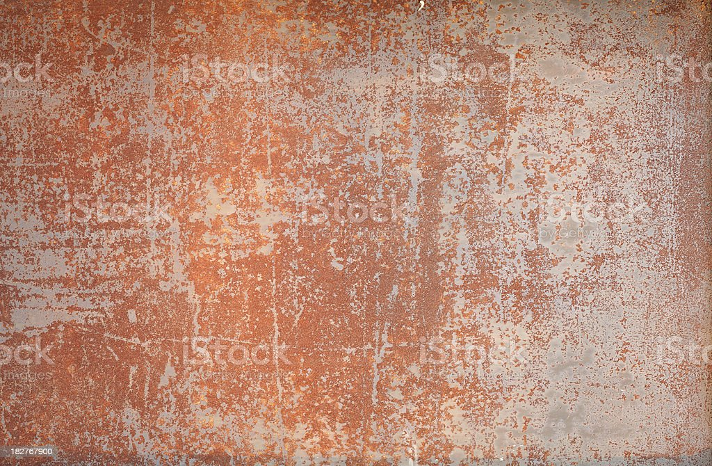 Scratched and corroded metal plate. royalty-free stock photo