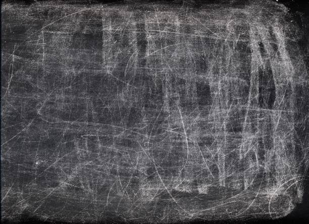 scratched background white dust black surface stock photo