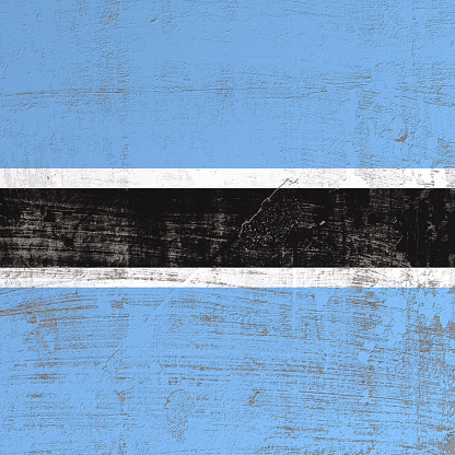 istock Scratched Botswana flag 952021904