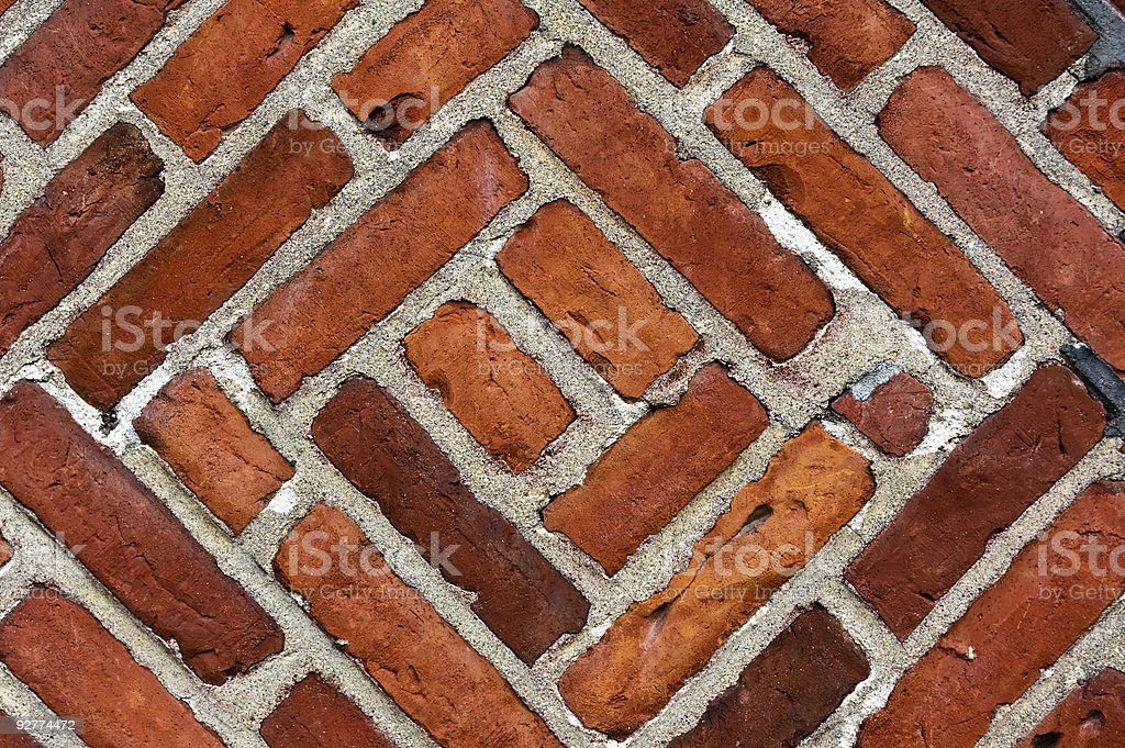 scratched brick wall royalty-free stock photo