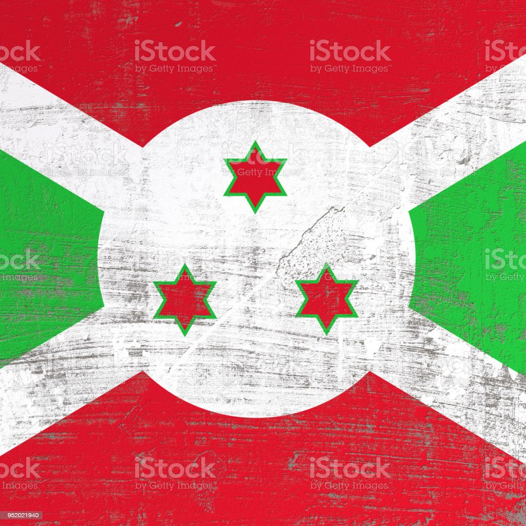 Scratched Burundi flag stock photo