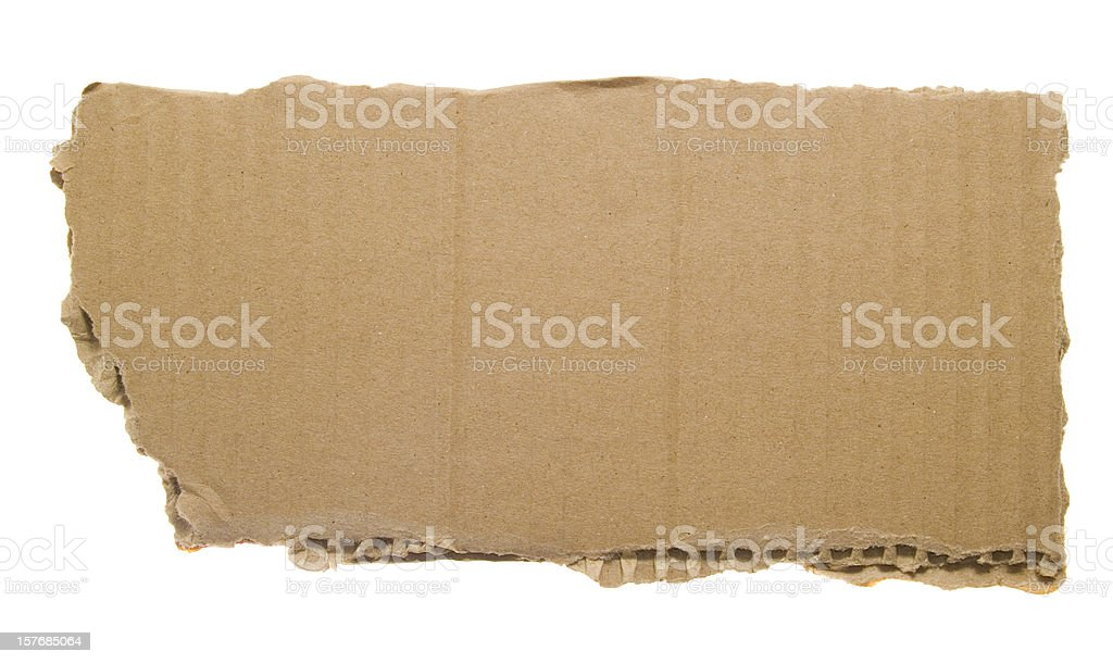Scratched Cardboard stock photo