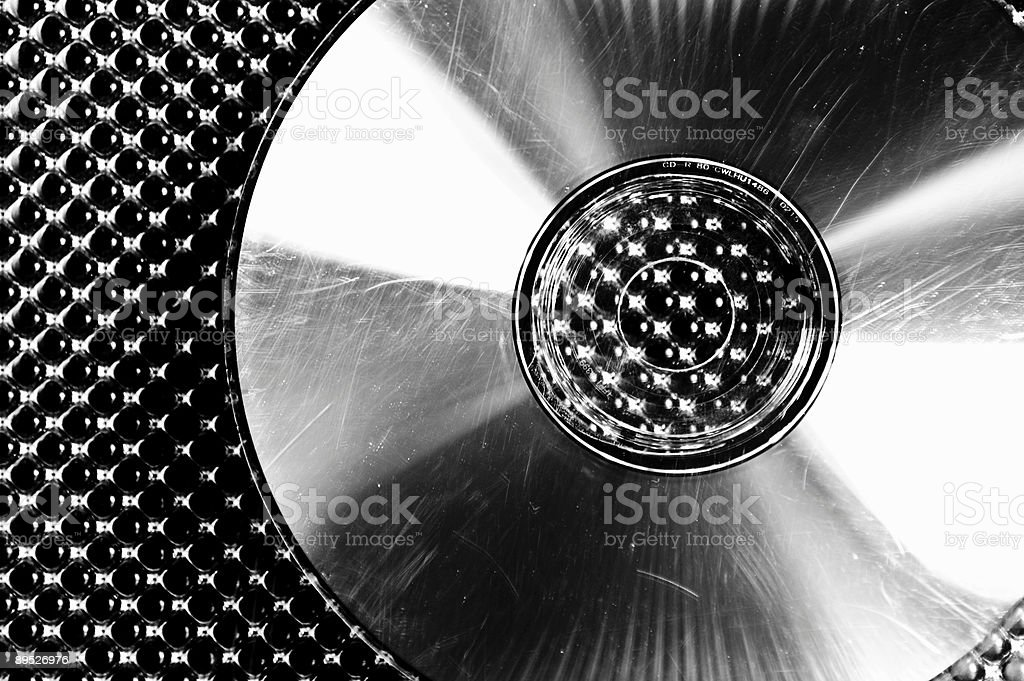 Scratched CD royalty-free stock photo