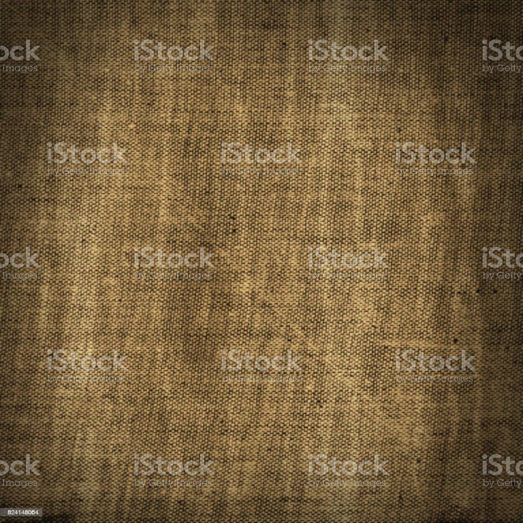 Scratched damaged burlap sackcloth grungy background stock photo