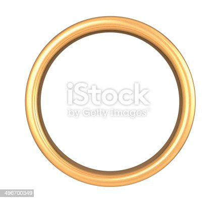 Scratched Golden Ring , Clipping Path , 3d Render