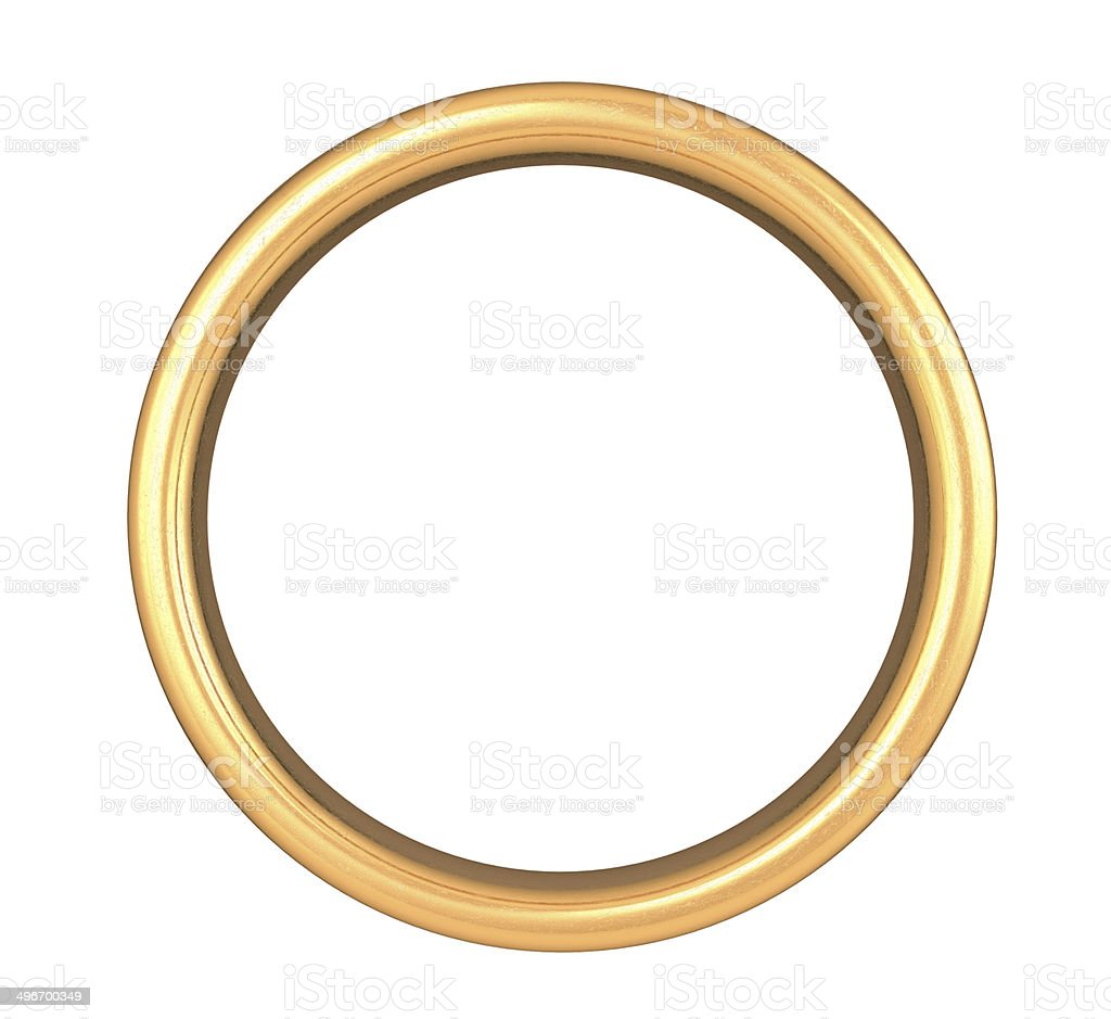 Scratched Golden Ring stock photo