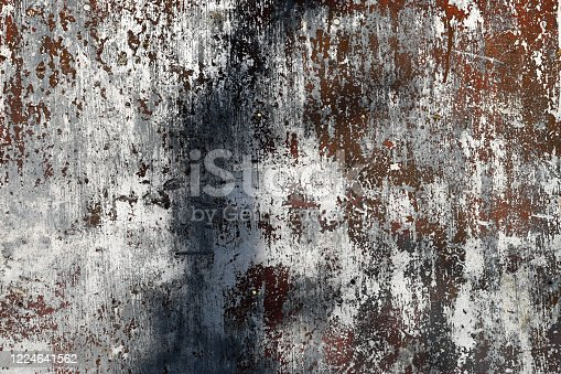 938345942 istock photo scratched metal background. poured paint. metal texture can be used as background 1224641562