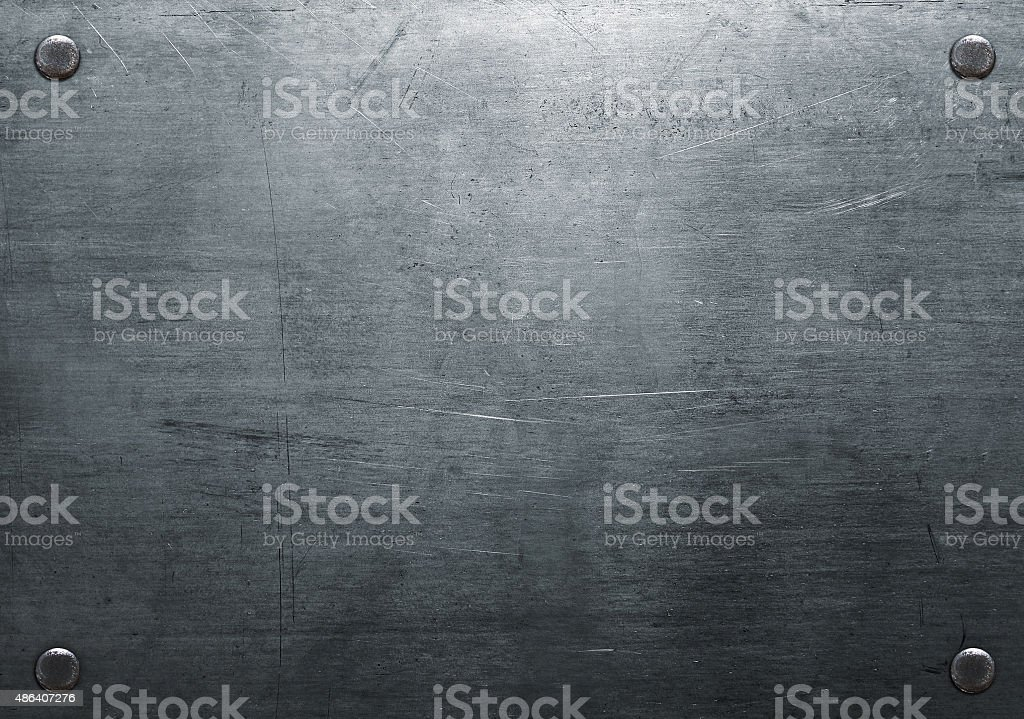 Scratched metal plate stock photo