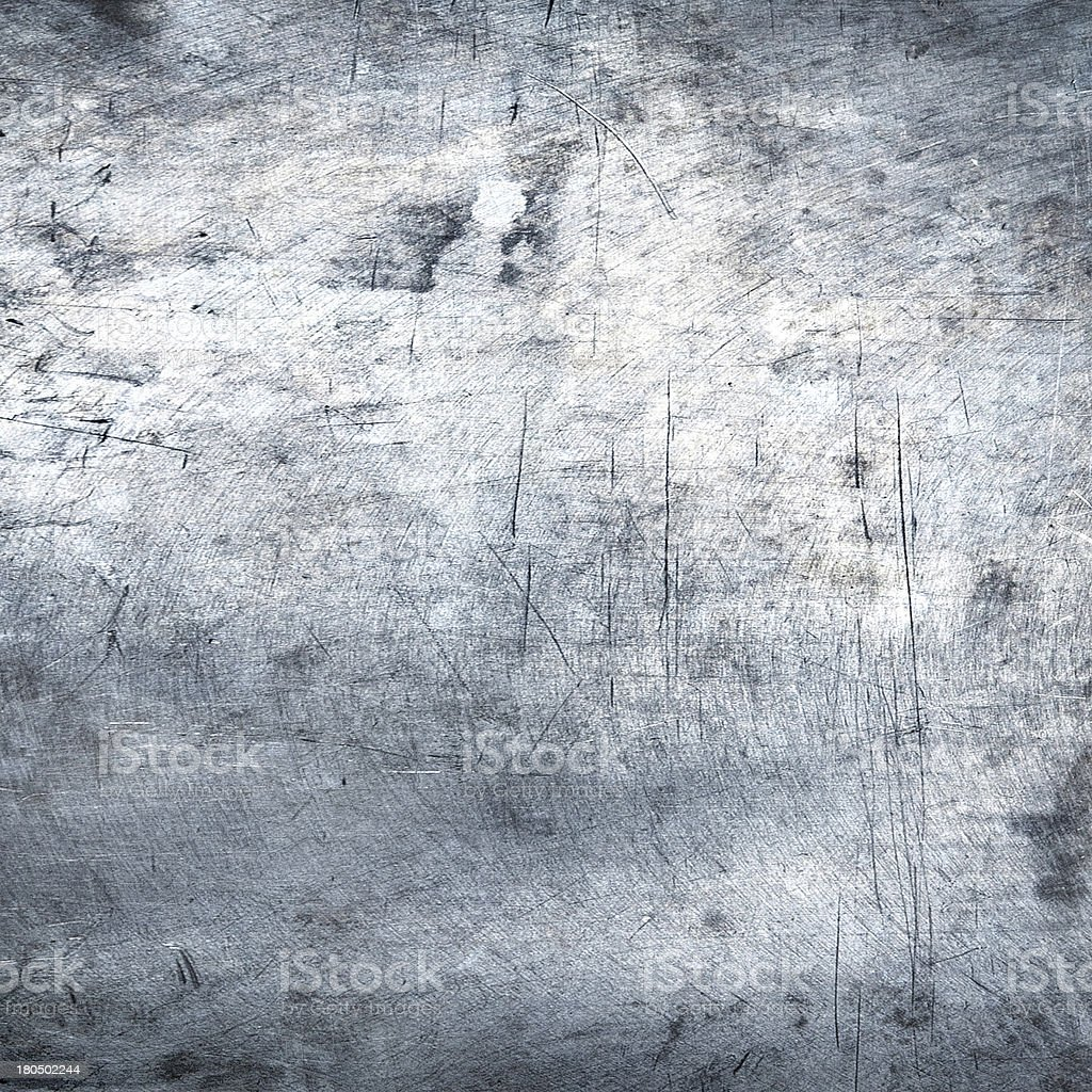 Scratched metal plate steel background stock photo