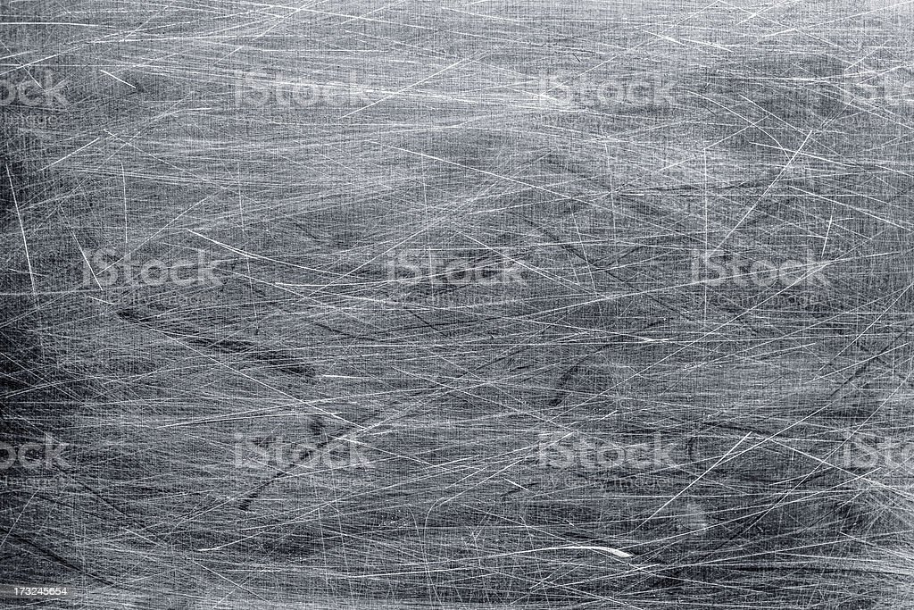 Scratched metal surface background stock photo