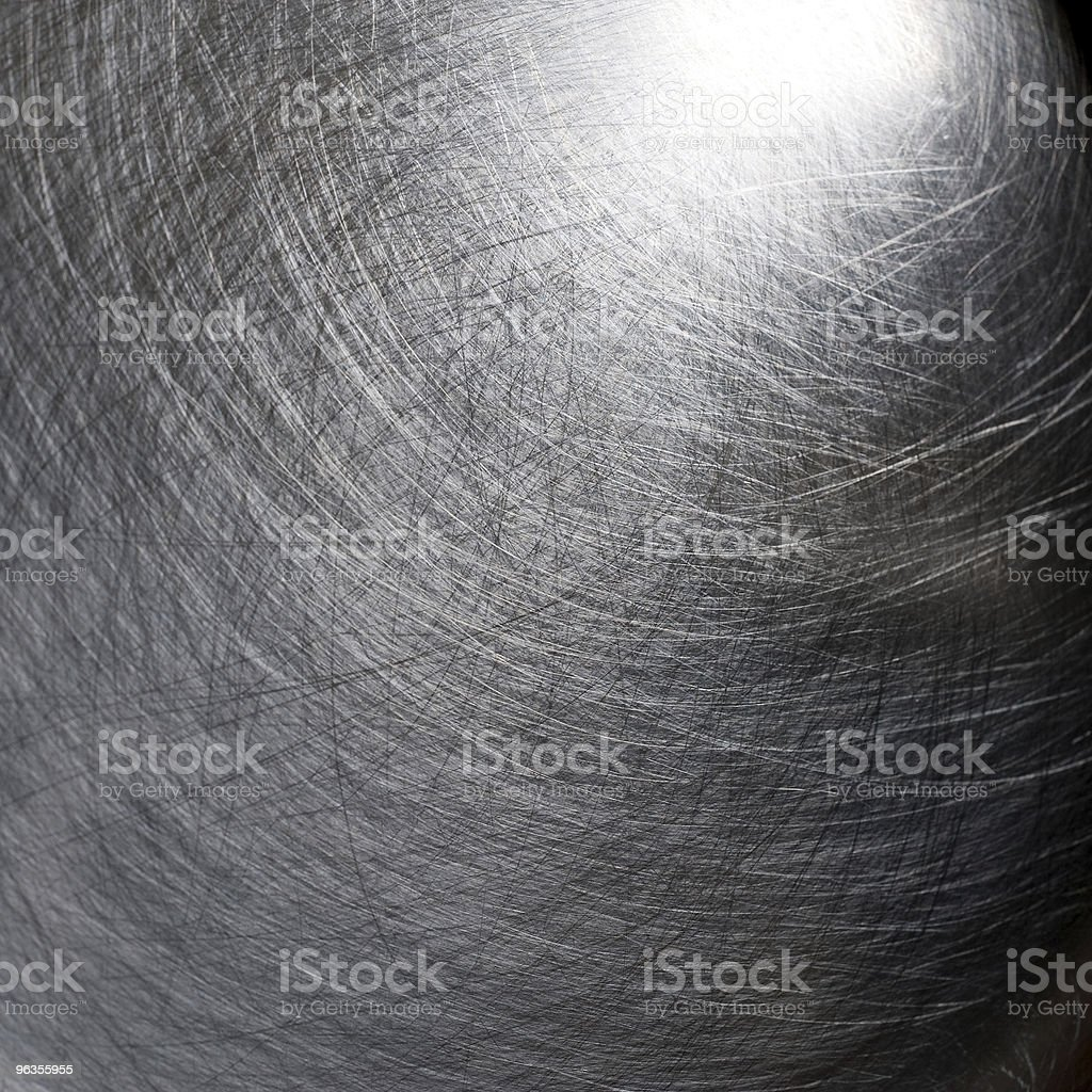 Scratched metal texture, silver royalty-free stock photo