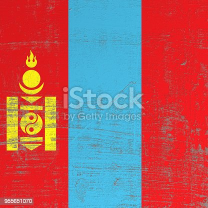 istock scratched Mongolia flag 955651070