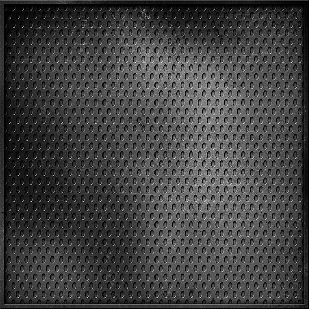 scratched perforated metal background - diamond plate background stock photos and pictures