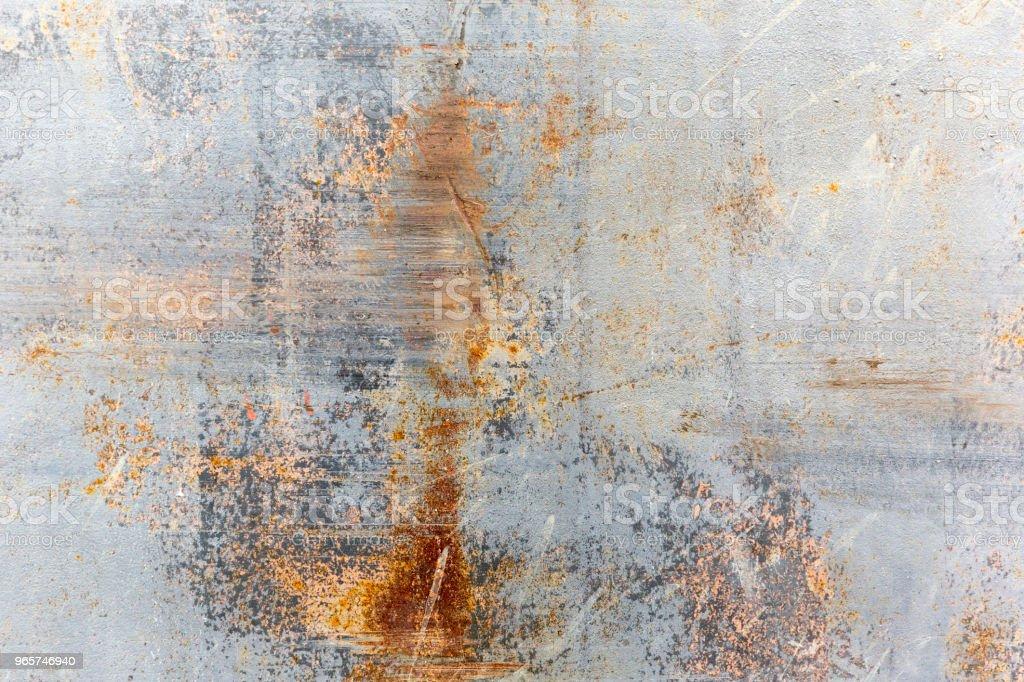 Krassen op een metalen wand van Grunge - Royalty-free Abstract Stockfoto