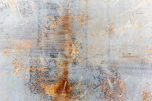 Krassen Op Een Metalen Wand Van Grunge Stockfoto en meer beelden van Abstract