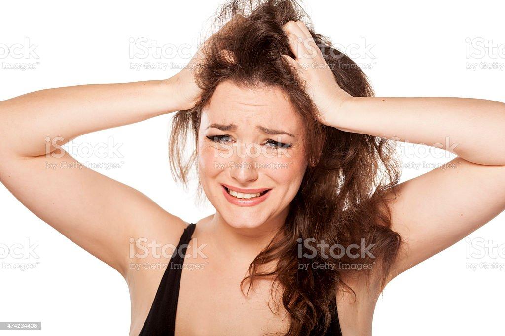 scratching head stock photo