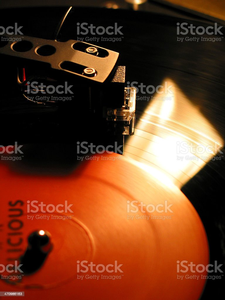 Scratching Vinyl royalty-free stock photo