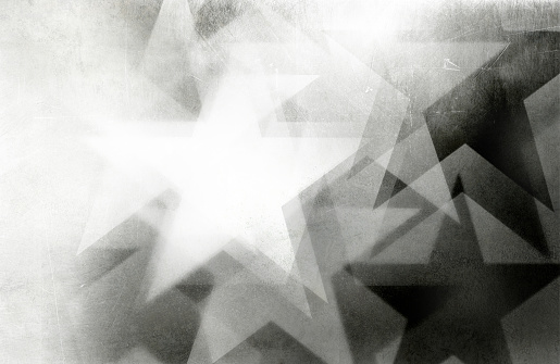 black and white scratchy star background art - use all or part...