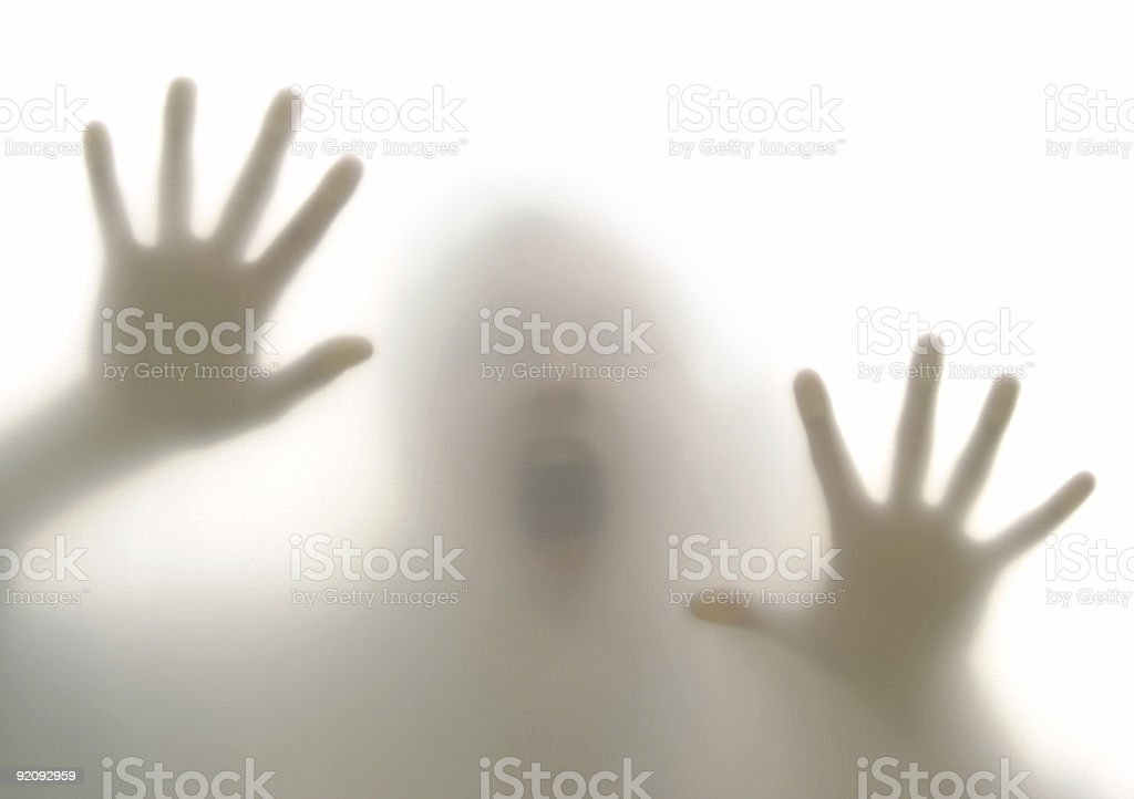 Scream and escape royalty-free stock photo