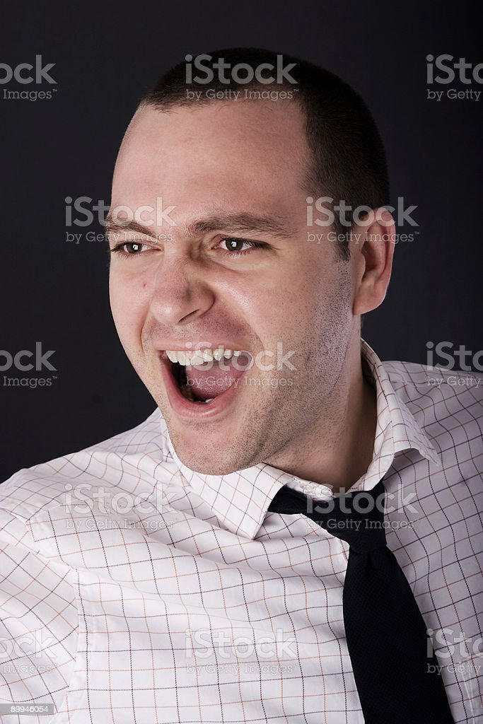 Scream and scream royalty-free stock photo